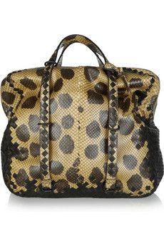 97053c07eb Bottega Veneta - Intrecciato python and leather tote
