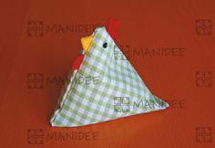 Cucito creativo, Fermacarte a gallinella - Sewing paperweight chicken