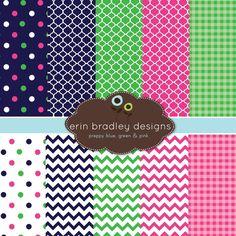 Digital Scrapbook Papers Personal and by ErinBradleyDesigns, $5.00