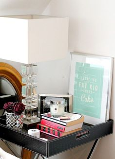 30 Ways to Style Your Bedside Table via Brit + Co.