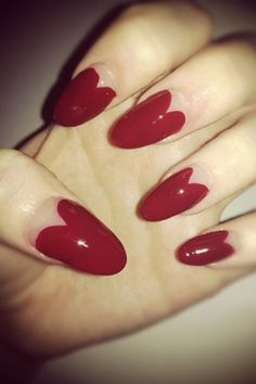 Nail art designs are the easiest way to achieve a-list beauty looks in minutes. Take a look at the nail art ideas the celebrities have been hshowing off, and just how easy they are to try. Nail Polish Designs, Acrylic Nail Designs, Nail Art Designs, Acrylic Nails, Valentine Nail Art, Valentines, Heart Nails, Beautiful Nail Designs, Red Nails