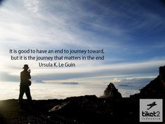 """""""It is good to have an end to journey toward, but it is the journey that matters in the end."""" - Ursula K. Le Guin #quote"""