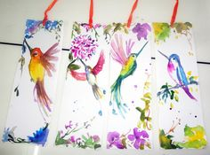 Read in style with this cute little watercolor bird bookmark! These are perfect for gifts, wedding favors, stocking stuffers, and avid