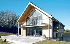 Self-build: Carlo and Julie Fanciullaccis dairy Farm Lodge Hard Graft, Self Build Houses, Custom Built Homes, New Builds, Windows And Doors, Beautiful Homes, Construction, House Styles, Building