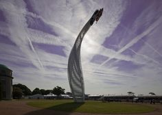 Enzo Mari knife inspires twisting sculpture at Goodwood 2015.