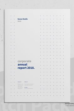 This report template is a comprehensive report for corporate which includes articles, data sheet and effective tables for financial information. Packaged in a very modern and minimalistic layout, it is designed to be easy to read and attractive. This premium quality template will satisfy the perfectionist and the ones looking for high end products. Brochure Design Inspiration, Web Design Trends, Design Web, Design Ideas, Minimalist Graphic Design, Graphic Design Resume, Book Design, Cover Design, Report Layout