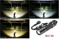 #BLF A6 XPL 1600 Lumens 7/4modes EDC #LED #Flashlight 18650 #Waterproof Light Black