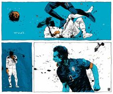World Cup 2014 Simon Prades Illustrations | New Republic - Spain vs Netherlands