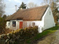 Irish cottage County Galway, Ireland. One of so many thatched cottages near us. See them all by clicking on this photo and going through to the album of cottages on our Facebook page.
