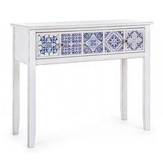 #homedecor #interiordesign #inspiration #blue #white Console, Pomellato, Vanity Bench, Entryway Tables, Interior Design, Country, Vintage, Inspiration, Furniture