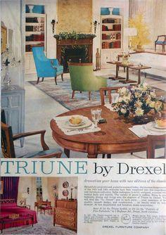 drexel dining room furniture 1960 | DREXEL 1963 Triune | MCM Drexel Furniture in 2019 ...