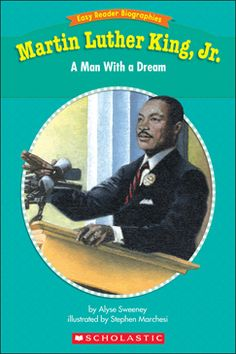 (Easy Reader Biographies: Level I): Guided Reading Level I. This vividly illustrated storybook tells about the life of Martin Luther King, Jr. It includes many historical facts and a glossary! Martin Luther Jr, Martin King, Genre Study, Nonfiction Text Features, Guided Reading Levels, Easy Reader, King Quotes, Christian Men, Elementary Music