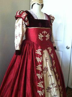 Elizabethan Renaissance Costume by Designs From Time. #Renaissance #Elizabethan #Tudor #Costume #Dress #Gown #Historical #Fashion