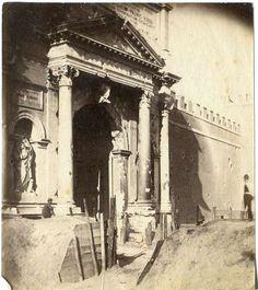 1870 Tuminello Ludovico . Porta Pia,strutture di difesa in terra e danneggiamenti conseguenti alla presa di Roma.