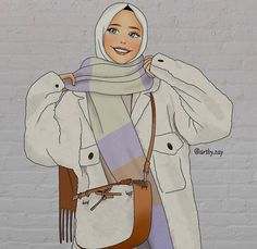 Cartoon Girl Images, Girl Cartoon, Cartoon Art, Hijab Drawing, Friends Illustration, Islamic Cartoon, Girly Images, Hijab Cartoon, Cute Girl Wallpaper