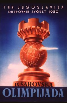 chess poster from 1950 chess olympics - Chess.com