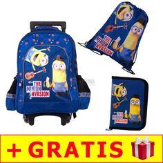 12-zestaw-szkolny-minionki-plecak-na-kolkach---pio_1 Lunch Box, Backpacks, Bags, Handbags, Bento Box, Backpack, Backpacker, Bag, Backpacking