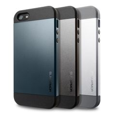 SPIGEN SGP Slim Armor case for the iPhone 5 is specifically designed to protect the iPhone 5 at all angles.The TPU case features improved shock absorption on the top, bottom, and corners to effectively protect the iPhone 5 from external impact.  It is double layered with a TPU case and a polycarbonate hard case to provide additional protection in a form-fitted design. The case is compatible with Apple ear pods and earbuds with L-shaped plug including beats by Dr. Dre.
