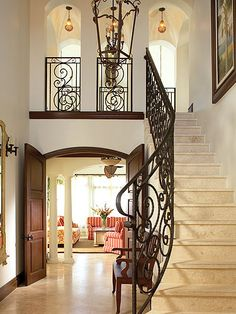 i love the idea of walking down the stairs all fabulous like!