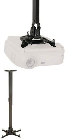Projector Mounts and Stands: Peerless Ppc Universal Ceiling Projector Mount - 50 Lb - Black -> BUY IT NOW ONLY: $92.41 on eBay!