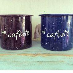 Petrita, carita, enamel ware. Vintage Mug de Peltre con diseño de impresión en tinta resistente al calor. Verano, decoracion de interiores Material: Peltre Hecho en México http://www.petritas.mx/