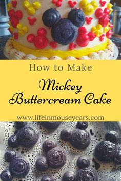 Making Disney themed cakes are one of my favorite ones to make! This post shares how to make a buttercream cake with Mickey shapes all over. Find out how to make a fun Disney cake for a friend, family member, or for yourself! www.lifeinmouseyears.com #lifeinmouseyears #disneycake #yum #howto #mickeymouse Disney Themed Cakes, Disney Cakes, Buttercream Cake, Mickey Mouse, Shapes, Breakfast, Fun, Life, Buttercream Ruffles