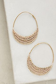 Anthropologie Violacea Hoops