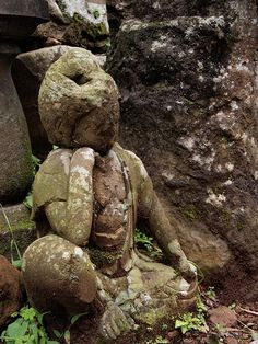 A jizo statue in the forest (森の中の座像) by Neconote, via Flickr