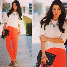 Look, summer smart casual- love the trousers and necklace (not the shoes)