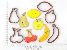 Fruit Cookie Cutter Set by 3DCookieCutterShop on Etsy