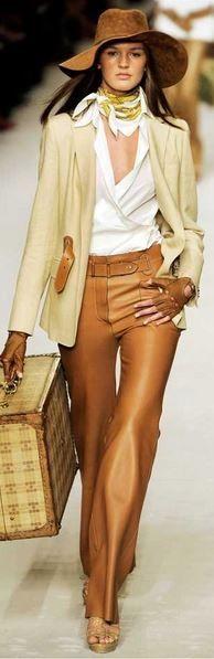 cognac colored pants - 2015 color trend