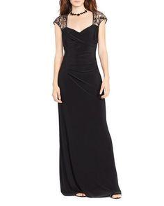 Lauren Ralph Lauren Gown - Cap Sleeve Sequin
