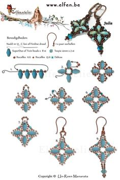 "FREE Pattern for ""Earrings with Superduo Jolie"" featured in Bead-Patterns.com Newsletter today! Check it out for more featured FREE patterns, EyeCandy, supplies and more!"