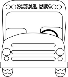 School Bus Front Black and White Clip Art - School Bus Front Black and White Vector Image School Bus Safety, School Bus Driver, School Bus Crafts, Art School, School Bus Clipart, Nursery Rhyme Costume, Energy Bus, Bus Driver Gifts, Teacher Doors