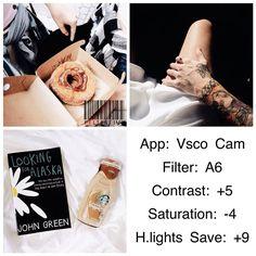 VSCO Cam Filter Settings for Instagram Photos | Filter A6