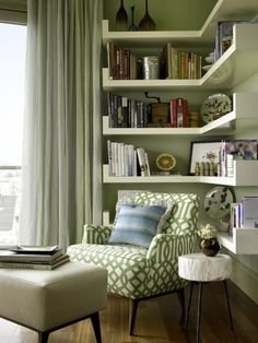 30 Clever Ideas Small Corner Shelves for Living Room Design. This time, I'm gonna show you some clever ideas of small corner shelves for living room design, because small corner […] Home And Living, Room Design, House Interior, Living Room Decor, Living Room Corner, Home Living Room, Interior, Corner Reading Nooks, Small Room Design