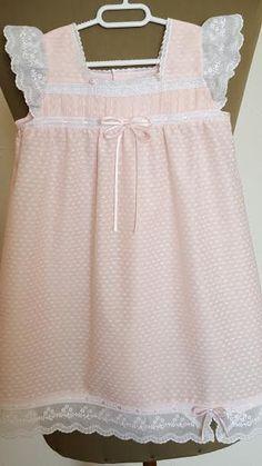 Camisón NIÑA T-2 batista rosa Ref.008-16 por LenceriaMontseTorres