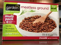 This is good we found gardein meatless ground at costco haven t seen