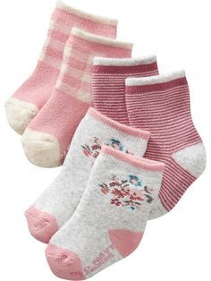 Non-Skid, Crew-Sock 3-Packs for Baby Product Image