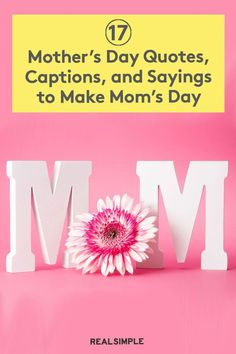 17 Mother's Day Quotes, Captions, and Sayings to Make Mom's Day | Your mom—or your wife and mother of your children, or your grandmother, or whomever—is sure to appreciate a Mother's Day quote, saying, or caption along with the meaningful card you give her or the funny post you put on social media. #mothersdayrecipes #realsimple #mothersdayideas #giftideas Funny Mothers Day, Mothers Day Quotes, Mom Day, Real Simple, Funny Posts, Inspiring Quotes, New Moms, The Funny, Captions