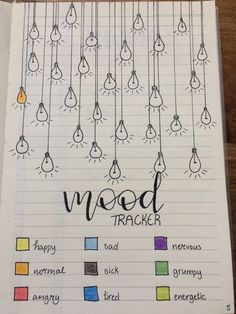 Mood tracker for in bullet journal