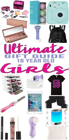 BEST Gifts 16 Year Old Girls! Top gift ideas that 16 yr old girls will love! Find presents & gift suggestions for a girls 16th birthday, Christmas or just because.Cool gifts for teen girls on their sixteenth bday. What are some sweet 16 gift ideas?We have you covered - popular gift ideas - from makeup, electronics, jewelry... find the best gift ideas for a teenage girl that are cute,creative & unique.Amazing products for daughters,niece, best friends & more.Shop what's trending for 16 year…