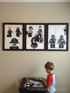 How to Make Inexpensive LEGO Wall Art for A Boy