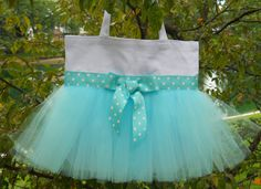 Ballet bag tutu tote bag Embroidered Dance Bag White by naptime21