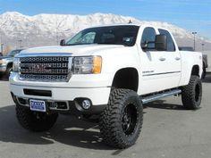 Don't mind me and my truck obsession. All I want is a 2012 GMC Sierra Denali Lifted Chevy Trucks, Gm Trucks, Jeep Truck, Diesel Trucks, Cool Trucks, Pickup Trucks, Gmc Vehicles, Gmc Sierra 2500hd, Future Trucks