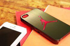 "Nike Air Jordan Logo - for iPhone 4 / 4s case, iPhone 5 case - Black / White. "" Option please """