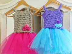 Tutu Dress Crochet Pattern, Crochet Baby Dress Pattern, Pdf Pattern - It's not free, but it's the cutest thing, ever. Buy the pattern and crochet it for any little girl.