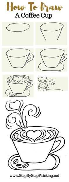 DIY Coffee Painting - Step By Step Painting