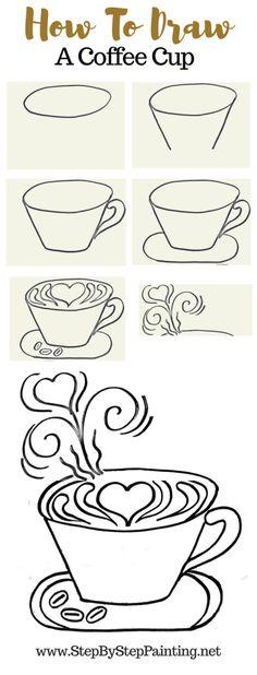 ideas step by step DIY Coffee Art Acrylics on Canvas DIY Coffee Painting - Step By Step Painting Coffee Painting Canvas, Easy Canvas Painting, Diy Canvas, Diy Painting, Canvas Crafts, Acrylic Paintings, Art Paintings, Coffee Doodle, Coffee Art
