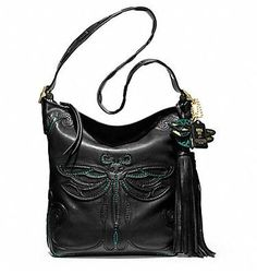 Coach LEGACY ANNA SUI DRAGONFLY LARGE DUFFLE